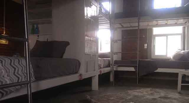 6 single beds in the dormitory