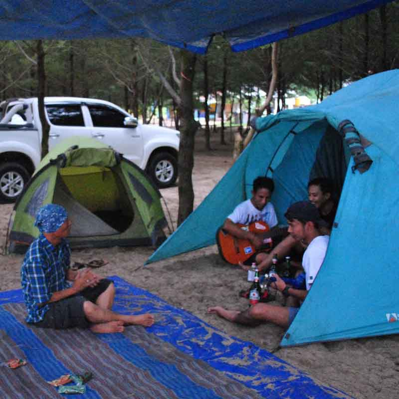 Camping at Malang beach
